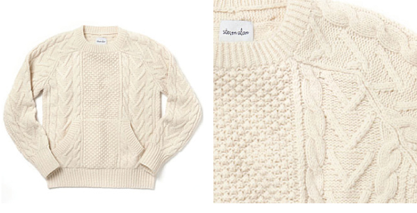 Blog Archive » STEVEN ALAN – HAND KNIT CABLE SWEATER